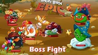 Angry Birds Epic: Super Villains of Piggy Island  Final Boss Fight Gameplay