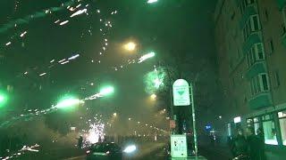 Pyro Wahnsinn Berlin Silvester 2016 Frankfurter Allee Feuerwerksvitrine Teil 1