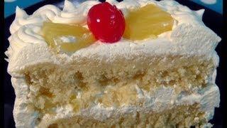 Pineapple Pastry (Microwave Eggless Sponge Cake)