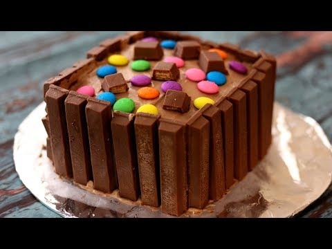 No Bake Kit Kat Cake Recipe | Eggless & Easy 5 Minute Cake Recipe Without Oven/Pan