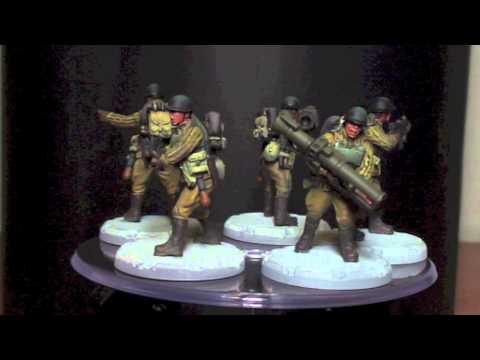 Video Review Dust Tactics Red Thunder SSU Antitank Squad Painted Premium Version