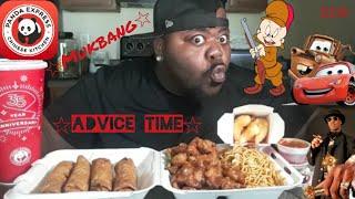 ☆Panda Express Mukbang☆( Advice Time)[Eating Show]