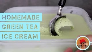 Homemade Green Tea Ice Cream (No Machine, No Churn)