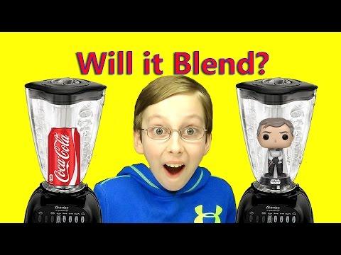 WILL IT BLEND?? COCA COLA & STAR WARS FUNKO POP EXPLODES BLENDER   COLLINTV