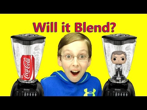 WILL IT BLEND?? COCA COLA & STAR WARS FUNKO POP EXPLODES BLENDER | COLLINTV