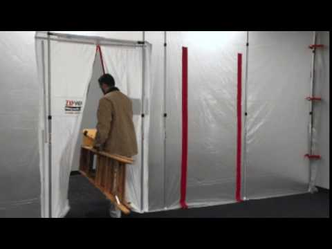 Zipwall Magnetic Dust Barrier Door Demo Hands Free Self