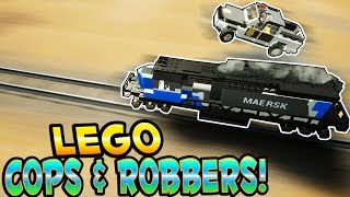 LEGO COPS AND ROBBERS! - Brick Rigs Gameplay - Train Heists & Police Chases! - User Creations