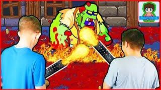 Поедатель зомби БОСС в игре про зомби приключения видео для детей про мульт героя ЗОМБИ GIBZ #3
