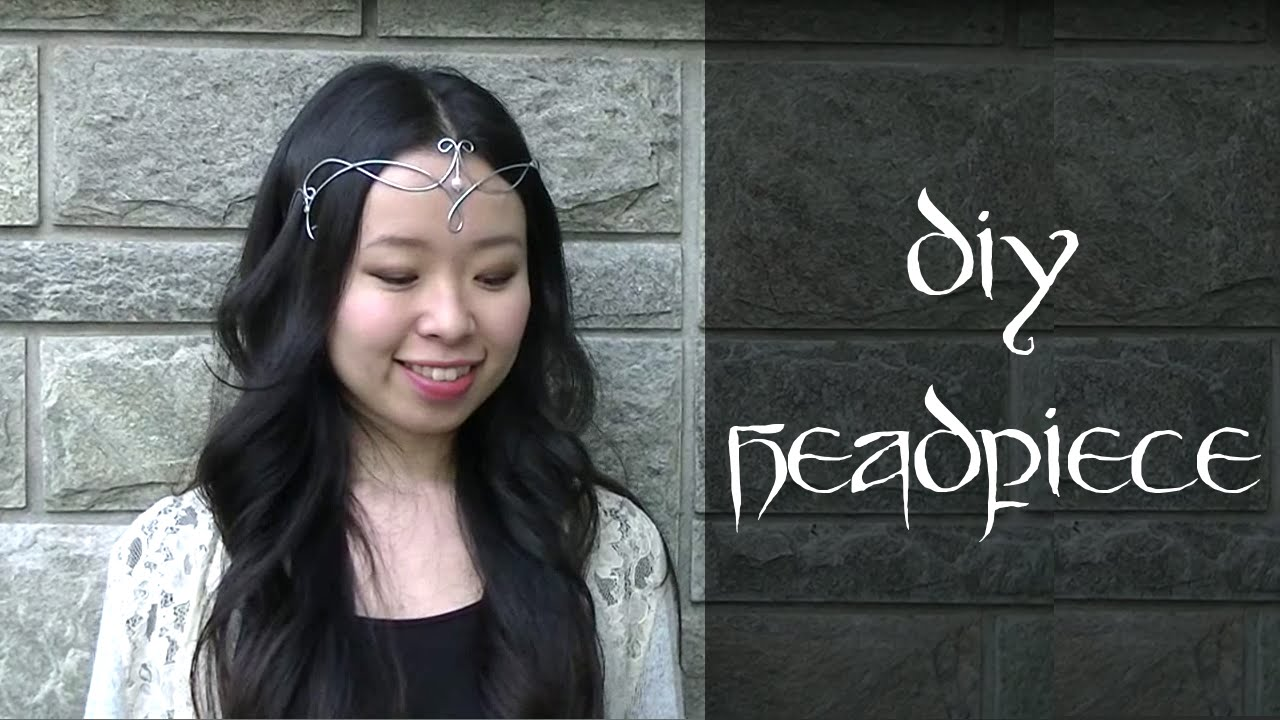 How to Make a Headpiece / Circlet with wire - YouTube
