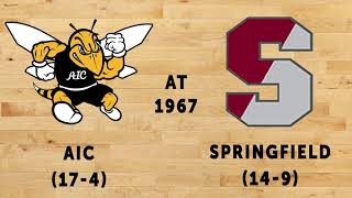 Men's Basketball AIC at Springfield College 1967 (Radio Broadcast)