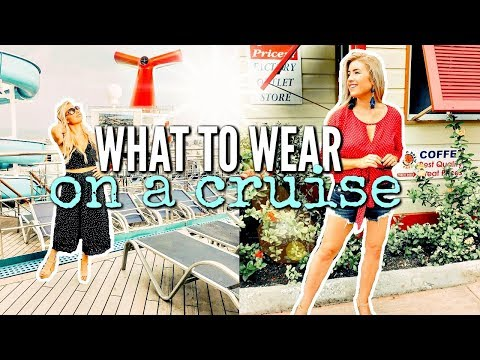WHAT TO WEAR ON A CRUISE SHIP | DAY & EVENING OUTFIT IDEAS 2018 | Love Meg