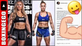 EWW: RONDA ROUSEY FLASHES AMAZING FIGHT NIGHT TRANSFORMATION BODY FOR AMANDA NUNES (UFC 207)