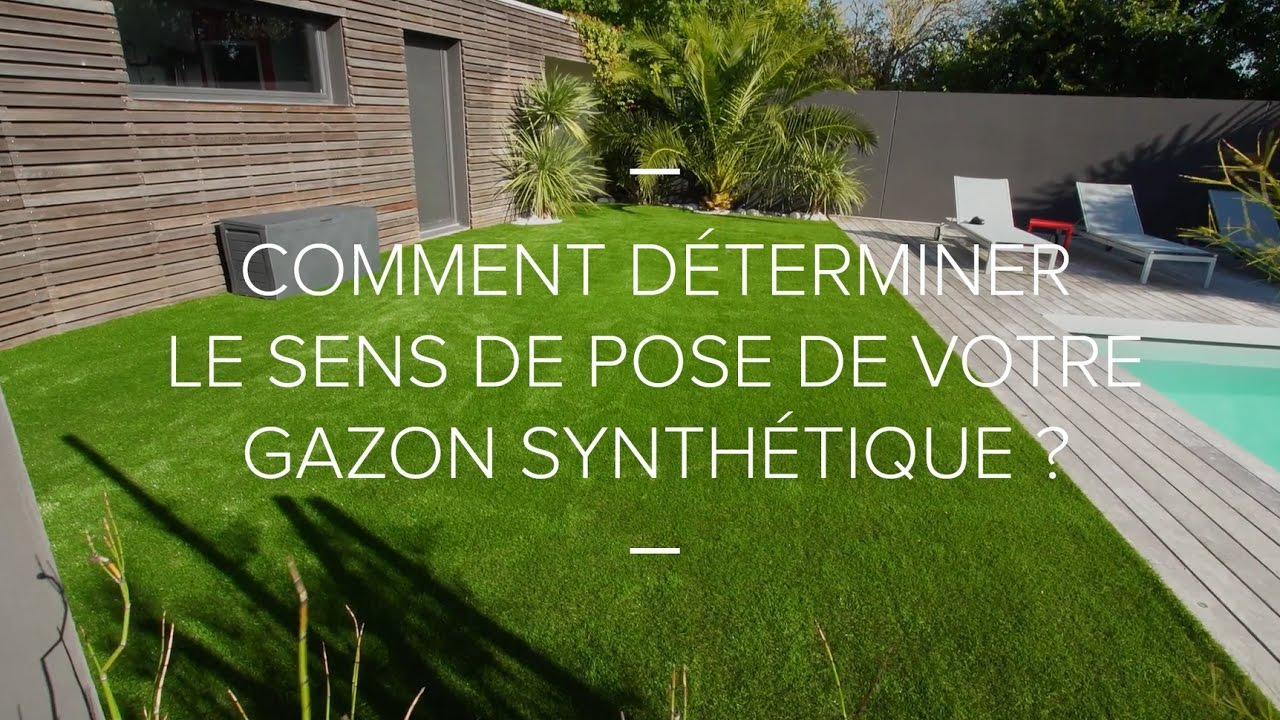 comment d terminer le sens de pose de votre gazon synth tique youtube. Black Bedroom Furniture Sets. Home Design Ideas