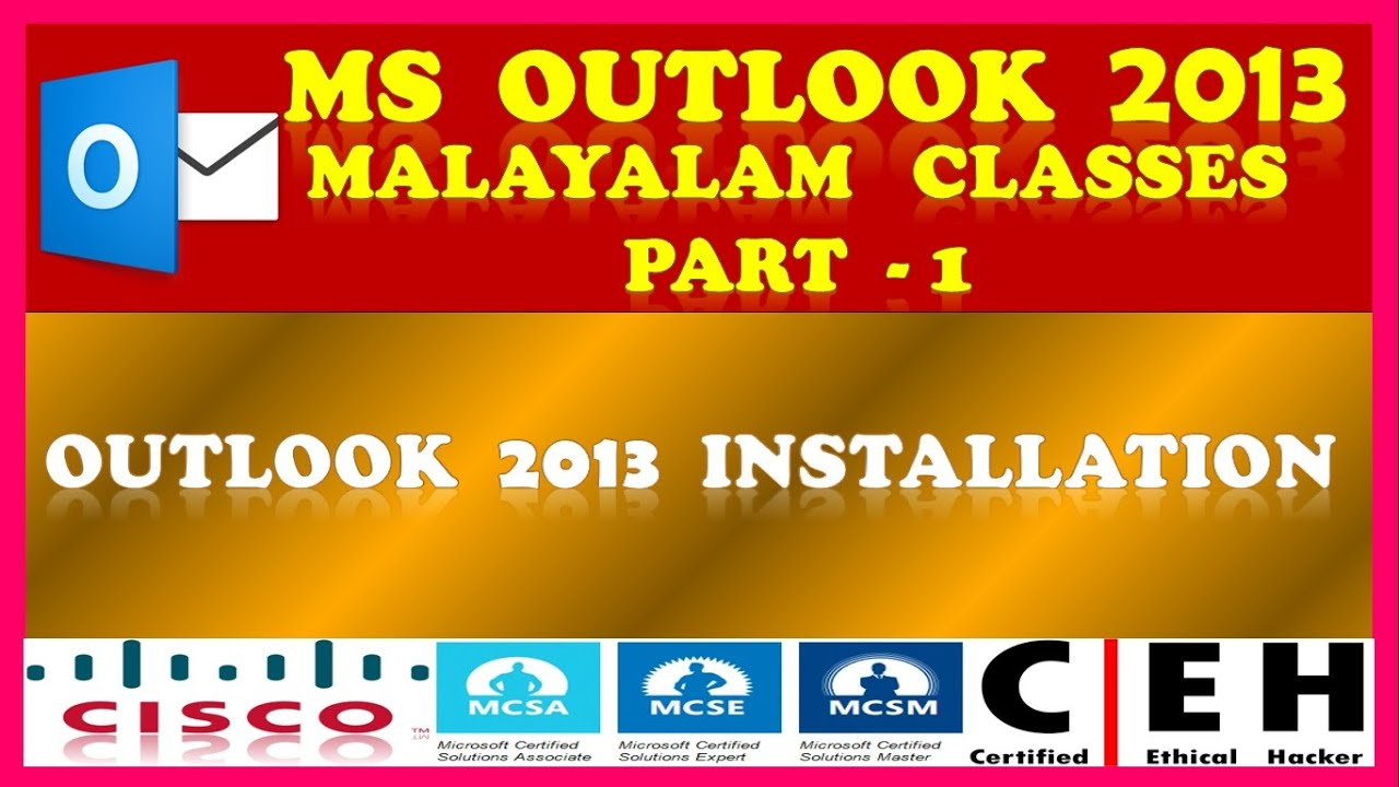 Microsoft Outlook 2013 Malayalam Part 1 Ms Outlook 2013