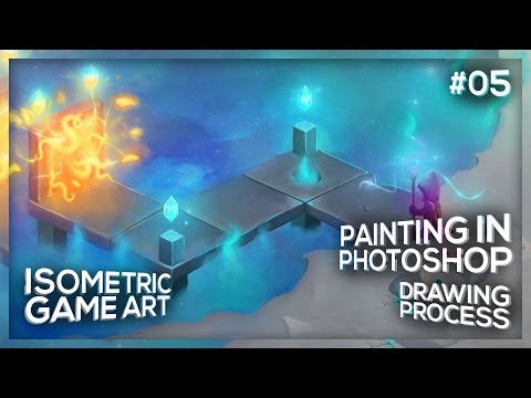 A Portal Bridge | Isometric Game Art #05 | Photoshop process