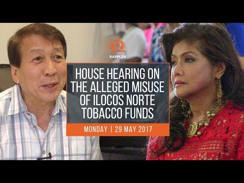 House hearing on the alleged misuse of Ilocos Norte tobacco funds