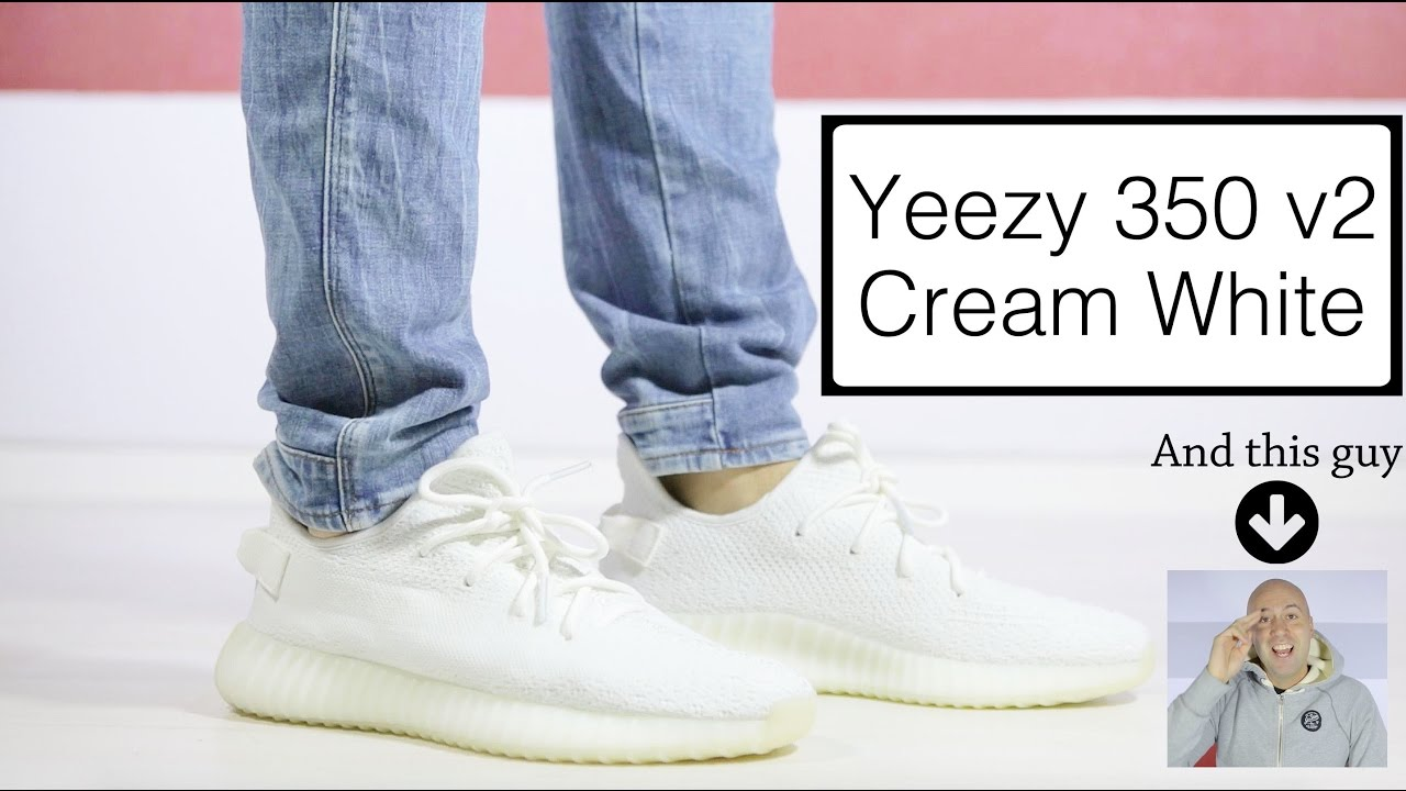 04997cbaad91 Adidas Yeezy Boost 350 V2 Cream White - Review + Unboxing + On Feet + One  Take - Mr Stoltz 2017