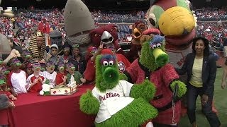 Phanatic's birthday celebrated in Philly
