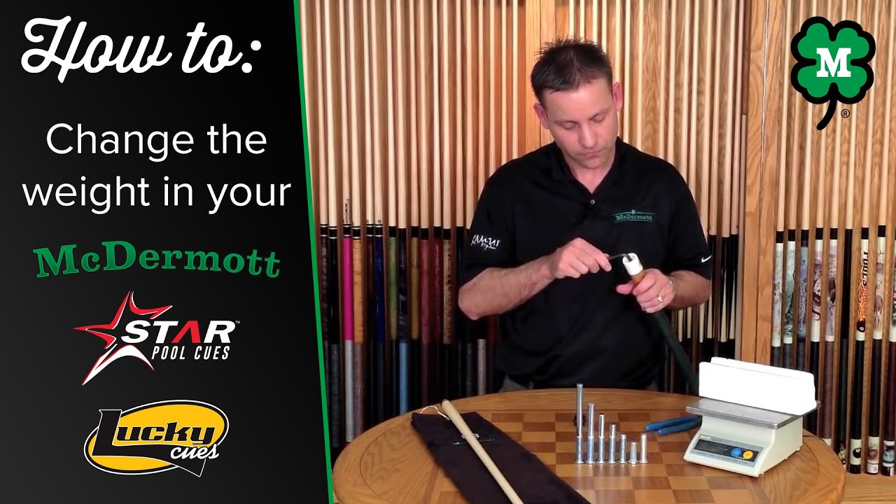 How to Change the Weight on Your McDermott Pool Cue