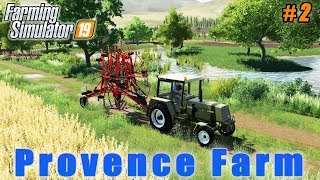 Tedding, windrowing and baling hay | Farmer weekdays in Provence | FS 19 | Timelapse #02