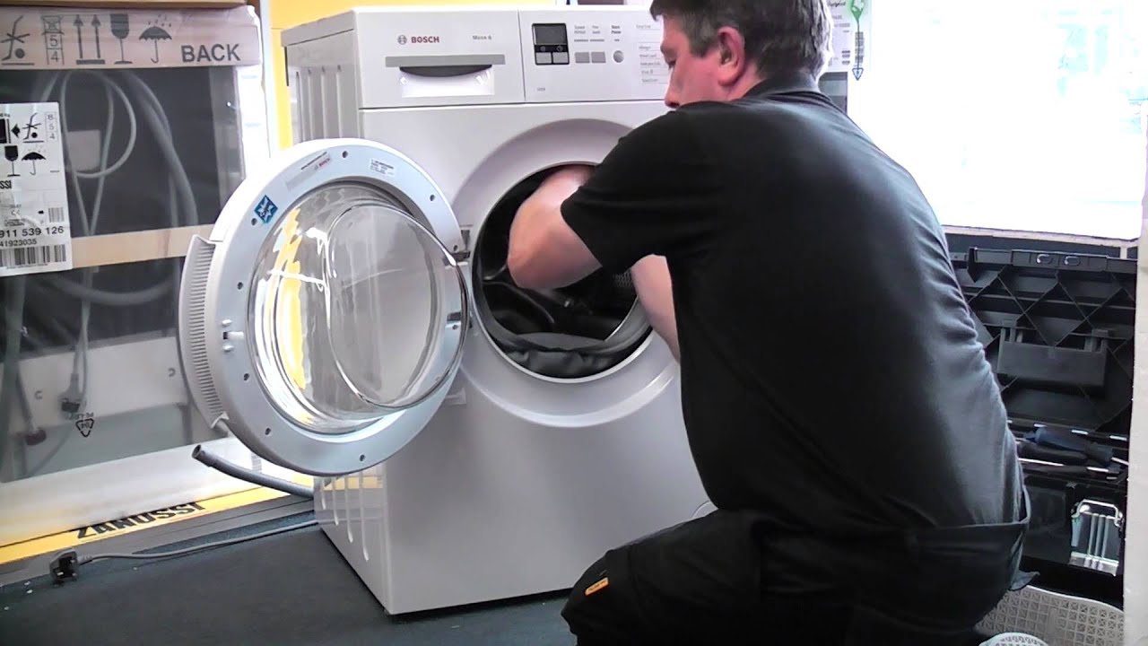 replacing the door seal on a bosch washing machine youtube rh youtube com