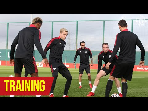 Training   Hard work continues at Carrington during international; break   Manchester United