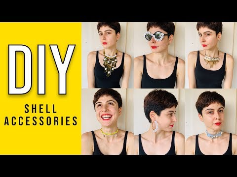 DIY || Shell Jewellery & Accessories 🐚 - YouTube
