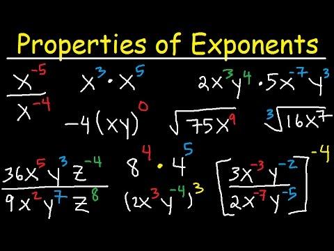 Algebra 2 - Exponents