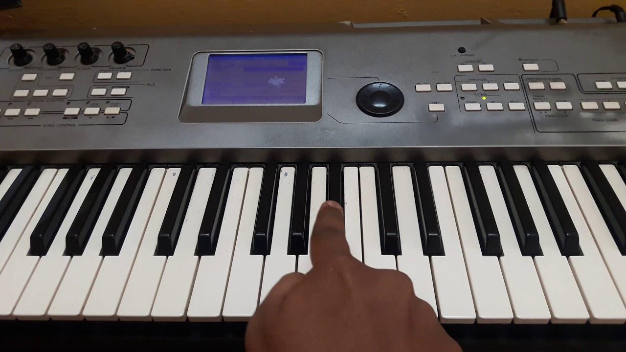 Gun In Kadhal Keyboard Tutorial [part 1]kolamavu Kokila