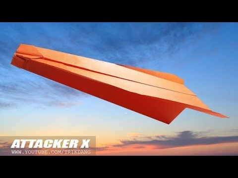 MY LONGEST DISTANCE PAPER AIRPLANE - How to make a paper air