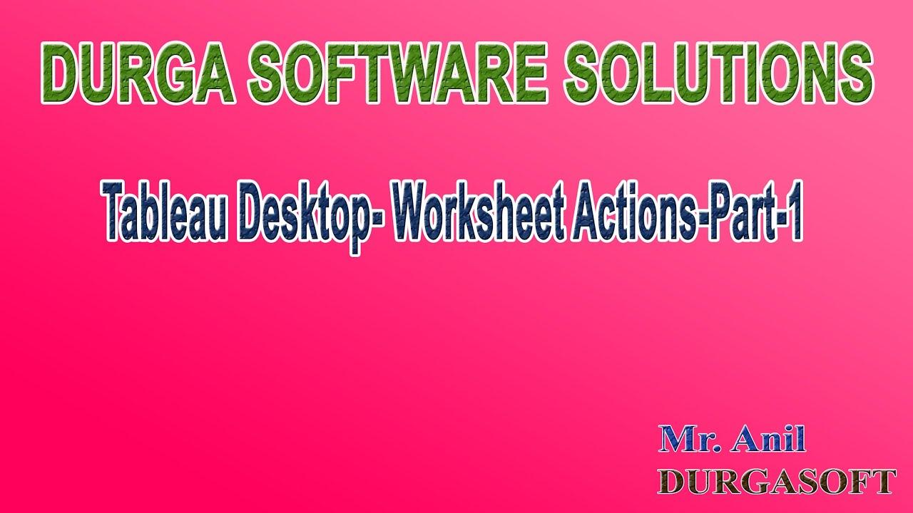 Tableau Desktop Worksheet Actions Part 1