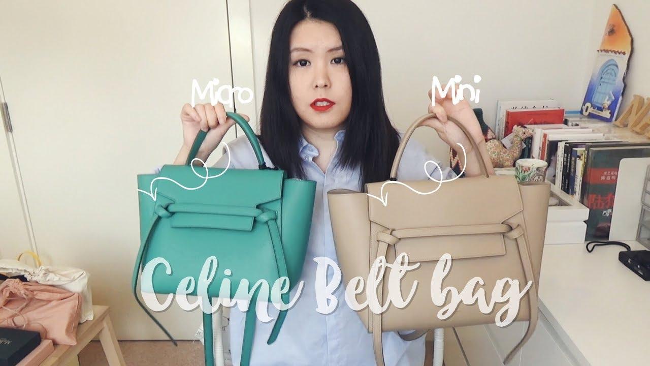 Celine Belt Mini Micro Bag Review 鲶鱼包两个尺寸比较包包分享