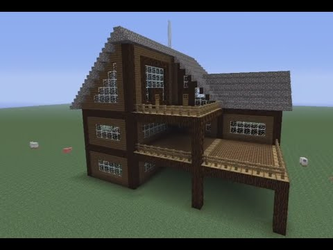 Minecraft how to build a spruce wood house youtube for How to build a wooden home