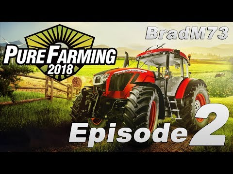 Pure Farming 2018 - My First Farm - Episode 2 - The Water Tank, Sprayer and Plowing!