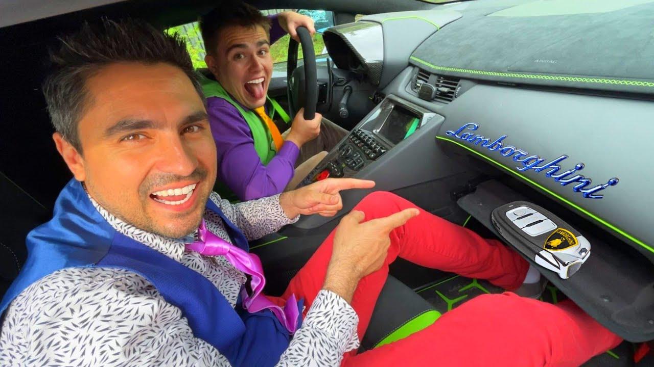 Mr. Joker on Camaro Found Car Keys in Glove Compartment VS Mr. Joe on Lamborghini Aventador 13+