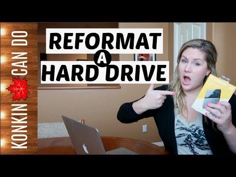 How To Reformat An External Hard Drive