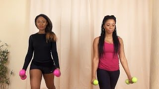 Sexy & Slim Arms and Waist Workout | Bobo - Olamide