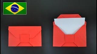Origami: Envelope Tradicional - Instruções em Português BR