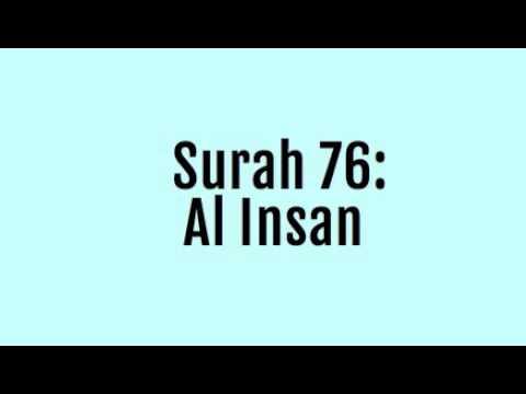 Surah 76: Al Insan (Mishary Rashid Al Afasy Recitation *Complete/Full*)