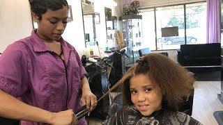 SALON VISIT | STRAIGHTENING NATURAL HAIR | WHEN TO CUT SPLIT ENDS/ DAMAGED HAIR!!! | FicklinTV Vlog