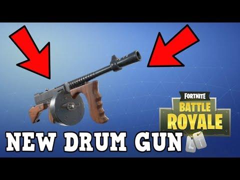 FORTNITE NEW WEAPON DRUM GUN GAMEPLAY! NEW TOMMY GUN WEAPON! @BlazedRts