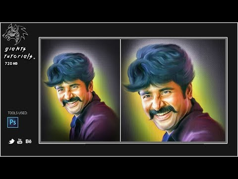 Sivakarthikeyan | Digital Painting In Photoshop Tutorial | Giants tutorials