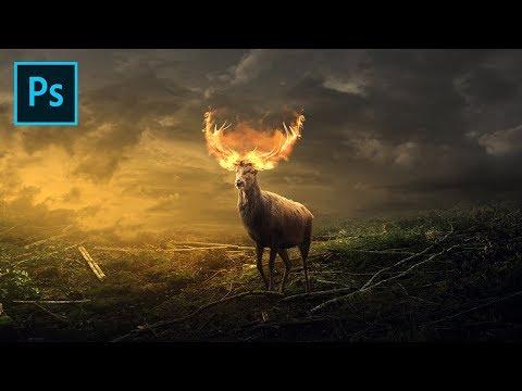Deer on Fire - Photoshop Surreal Manipulation Tutorial