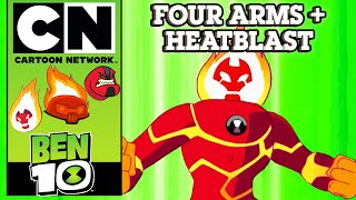 Ben 10 | The Power Of 10: Four Arms + Heatblast | Cartoon Network UK