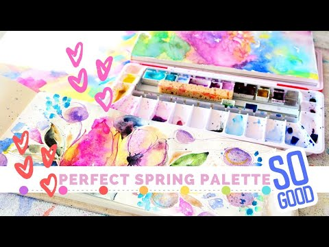 🌷 Creating A Perfect Spring Watercolor Palette 🌷