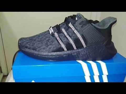 [Adidas] BB1236 Core Black Adidas EQT SUPPORT 93/17 Unisex
