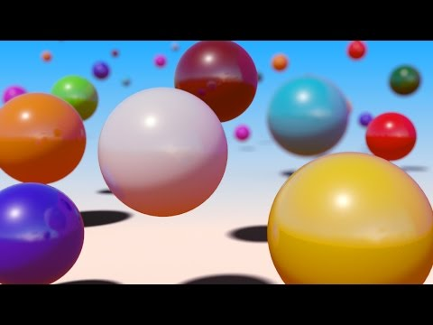 VIDS for KIDS in 3d (HD) - Relaxing Bouncing Balls Sleep Music for Children and Babies - AApV