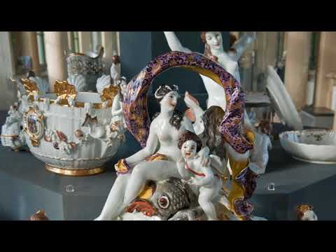 Porcelain exhibition Zwinger Palace Dresden Germany