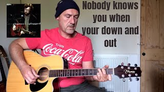 Guitar tutorial - Nobody knows you when your down and out - by Joe Murphy