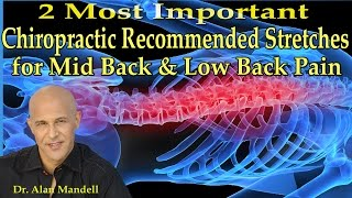 2 Most Important Chiropractic Recommended Stretches For Mid And Low Back Pain - Dr Mandell